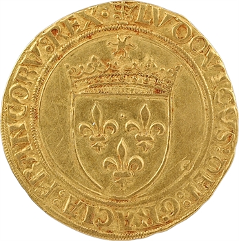 Louis XII, écu d'or au soleil, Saint-Pourçain