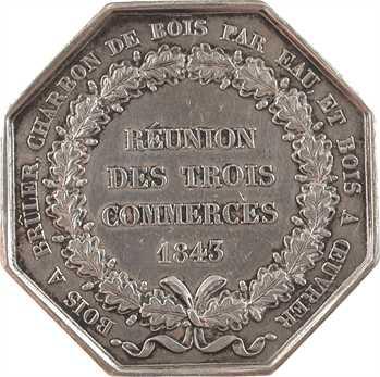 Louis-Philippe Ier, réunion des commerces du bois à brûler, charbon de bois et bois à œuvrer, 1843 (postérieur) Paris