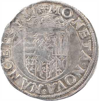 Lorraine (duché de), Charles III, teston au buste juvénile, s.d. (1545-1556) Nancy