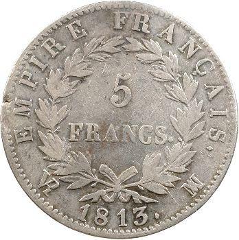 Premier Empire, 5 francs Empire, 1813 Marseille