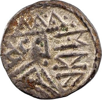 East Anglia, sceat ou denier à la tête radiée et légende runique, c.700-750