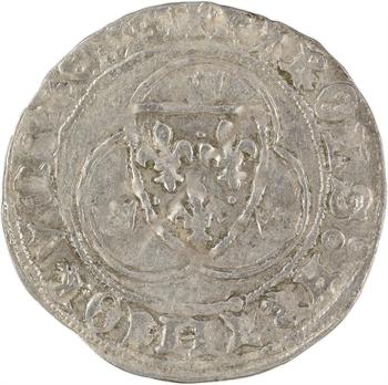Charles VIII, blanc à la couronne, légende fautée, Limoges