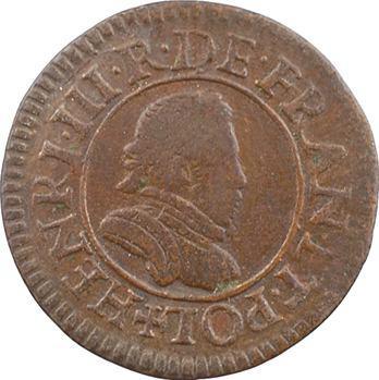 Henri III, denier tournois, s.d. (1577) Paris