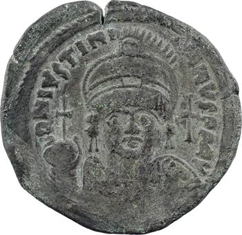 Justinien Ier, follis, Constantinople, 2e officine, An XXXV = 561-562