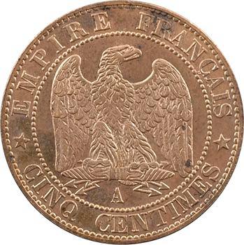 Second Empire, cinq centimes tête nue, 1854 Paris