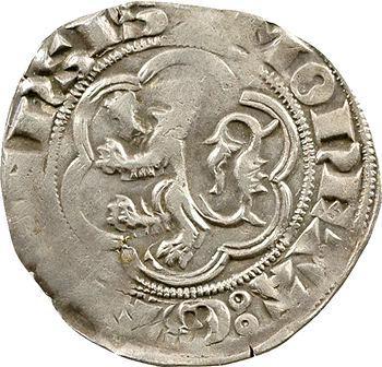 Flandres (comté de), Louis de Crécy, petit gros au lion, s.d. (1322-1346) Gand