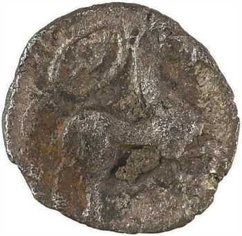 Centre-Ouest (Bituriges-Pictons), obole ou fraction, au cheval à droite et au bouclier, c.150-100 av. J.-C