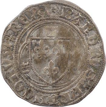 Charles VII, blanc à la couronne (étoile dans croissant fermé), 1re émission, Châlons-en-Champagne