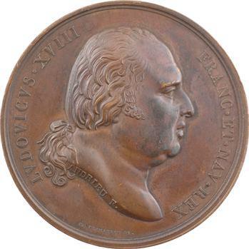 Louis XVIII, Constance du Roi pendant les Cent-jours, par Andrieu, 1815 Paris