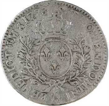 Louis XV, demi-écu à la vieille tête, 1773 La Rochelle