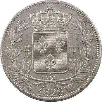 Charles X, 5 francs 1er type, 1826 Lille