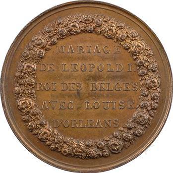 Belgique, mariage de Léopold Ier avec Louise d'Orléans, 1832 Bruxelles
