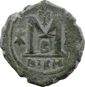 Justinien Ier, follis, Nicomédie, 2e officine, s.d