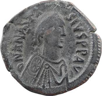 Anastase, follis, Constantinople, 2e officine, 491-518