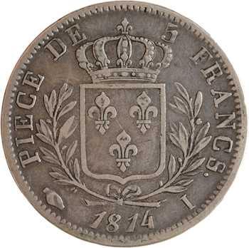 Louis XVIII, 5 francs buste habillé, 1814 Limoges