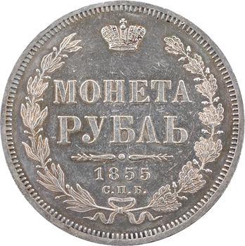 Russie, Nicolas Ier, rouble, 1855 Saint-Pétersbourg