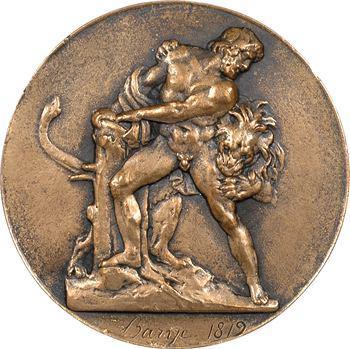 Milon de Crotone, fonte de bronze par Barye, 1819 Paris