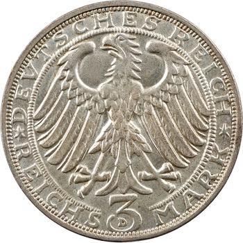 Allemagne (Empire d'), 3 reichsmark, 400ème anniversaire de la naissance de Dürer, 1928 Munich