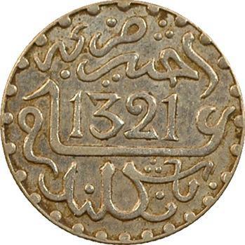 Maroc, Abdül Aziz I, 1/2 dirham, AH 1321 (1903) Londres