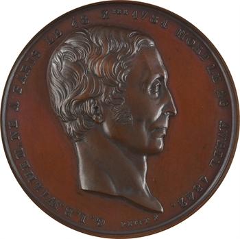 Second Empire, Guillaume-Louis Bocquillon, dit Wilhem, par Petit, médaille de récompense, 1842 (1853) Paris