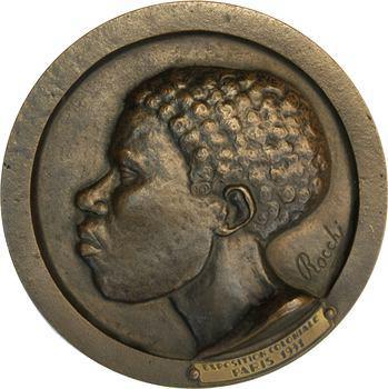 Exposition coloniale de Paris 1931, homme africain, par Rocchi, 1931 Paris
