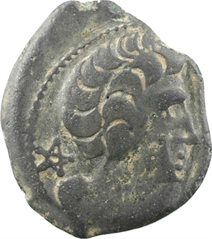 Arvernes, bronze CICIIDV.BRI/EPAD au cavalier, avant 52 av. J.-C