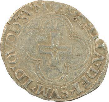 Béarn (seigneurie de), Henri Ier d'Albret, douzain à la croisette, Morlaàs