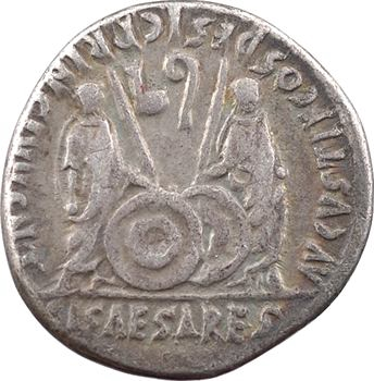 Auguste, denier, Lyon, 2 av.-4 ap. J.-C.