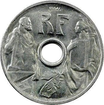 IIIe République, essai de 25 centimes par Prouvé, grand module, 1913 Paris