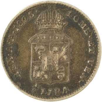 Italie, Lombardie-Vénétie, François Ier d'Autriche, 1/2 lire, 1823 Milan