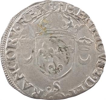 Henri II, douzain aux croissants, 1551 Troyes