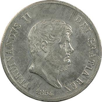 Italie, Deux-Siciles (royaume des), Ferdinand II, 120 Grana, 1854 Naples