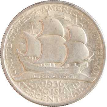 États-Unis, demi-dollar, tricentenaire de la colonisation de Long Island, 1936 Philadelphie