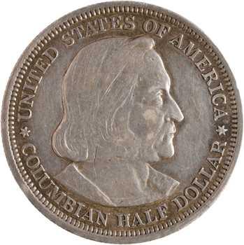 États-Unis, demi-dollar, Christophe Colomb, 1893 Philadelphie