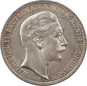 Allemagne, Prusse (royaume de), Guillaume II, 3 mark, 1911 Berlin