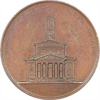 Charles X, édification de l'église Saint-Vincent-de-Paul de Paris, 1824 Paris