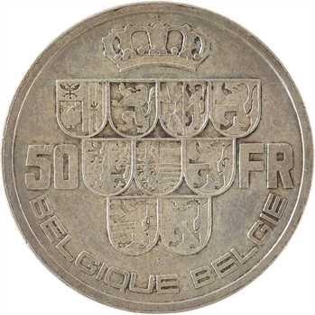 Belgique, Léopold III, 50 francs, 1940 (R)
