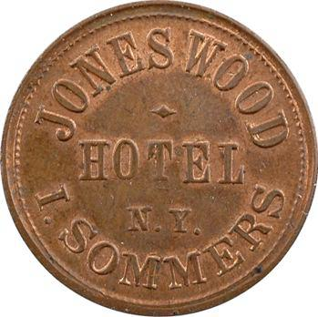 États-Unis, hôtel Jones Wood et I. Sommers à New York, 1863 New York (Horter)