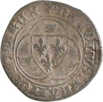 Charles VII, blanc à la couronne, 1re émission, Poitiers