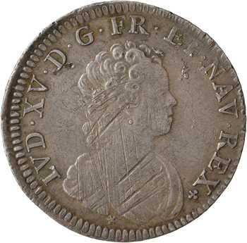 Louis XV, quart d'écu dit Vertugadin, 1716 Paris