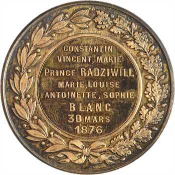 Pologne/Monaco, mariage de Constantin Radziwill et Louise Blanc, 1876 Paris