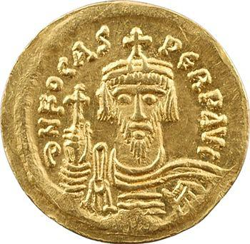 Phocas, solidus de poids léger (20 siliques), Constantinople, officine G, 607-610
