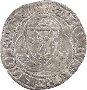 Charles VII, blanc à la couronne, 3e émission, Troyes