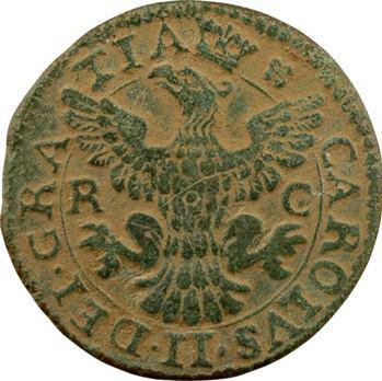 Italie, Sicile (royaume de), Charles II, grano, 1699 Palerme