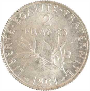 IIIe République, 2 francs Semeuse, 1901 Paris