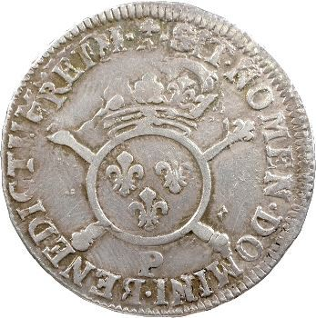 Louis XIV, demi-écu aux insignes, 1701 Dijon