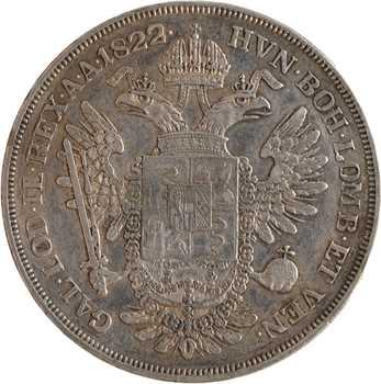 Italie, Lombardie et Vénétie, François Ier, écu, 1822 Milan