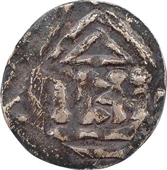 Les Trois Evêchés, Metz (évêché de), Thierry II et Henri II de Germanie,  obole au temple, s.d. (1006-1014)