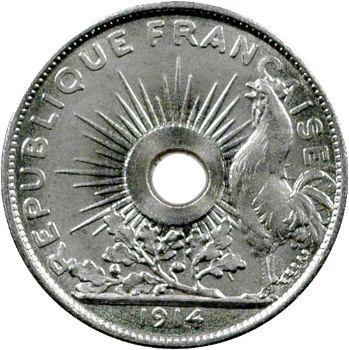 IIIe République, essai de 25 centimes par Pillet, petit module, 1914 Paris