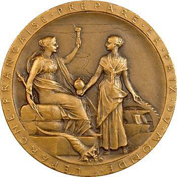Égypte, Suez (Canal de), médaille de Roty en bronze, 1869 (ap. 1880) Paris